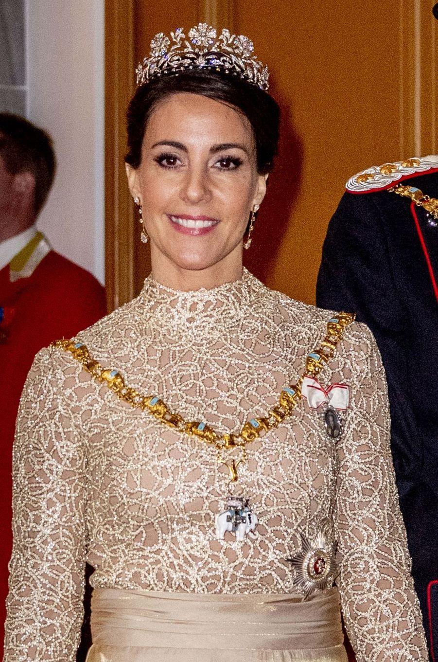 La princesse Marie de Danemark, à Copenhague le 1er janvier 2019