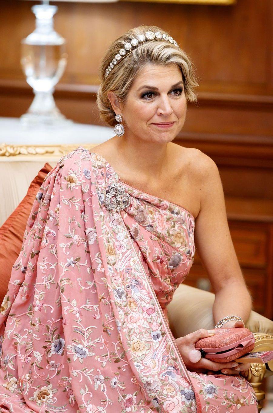 La reine Maxima des Pays-Bas, le 14 octobre 2019 à New Delhi