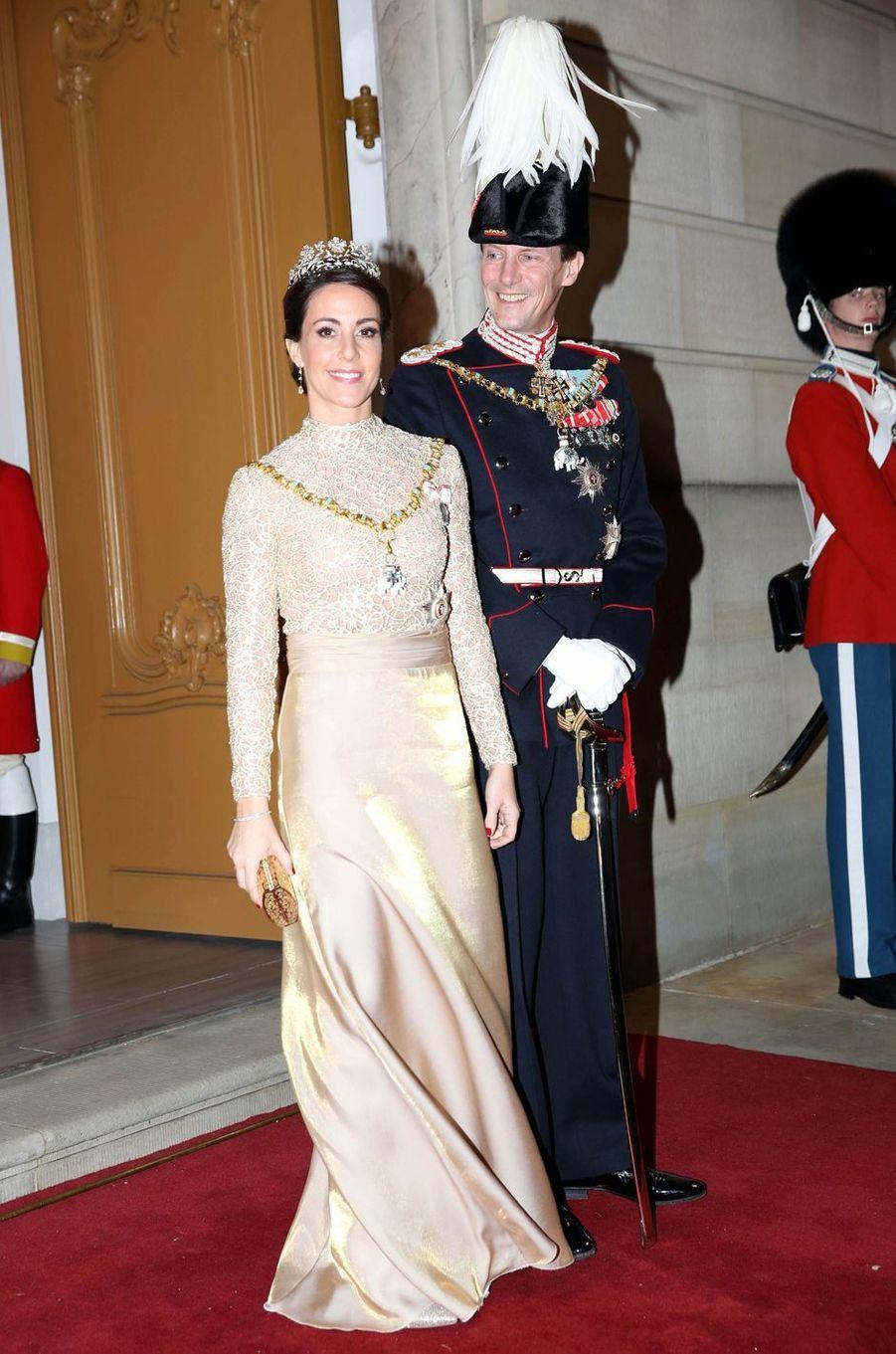 La princesse Marie de Danemark dans une robe Rikke Gudnitz, à Copenhague le 1er janvier 2019