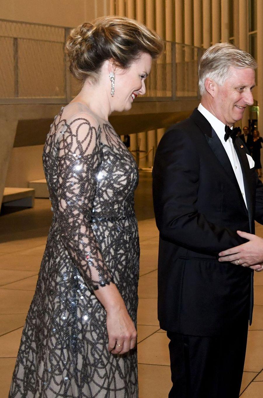 La reine Mathilde de Belgique, le 16 octobre 2019 à Luxembourg