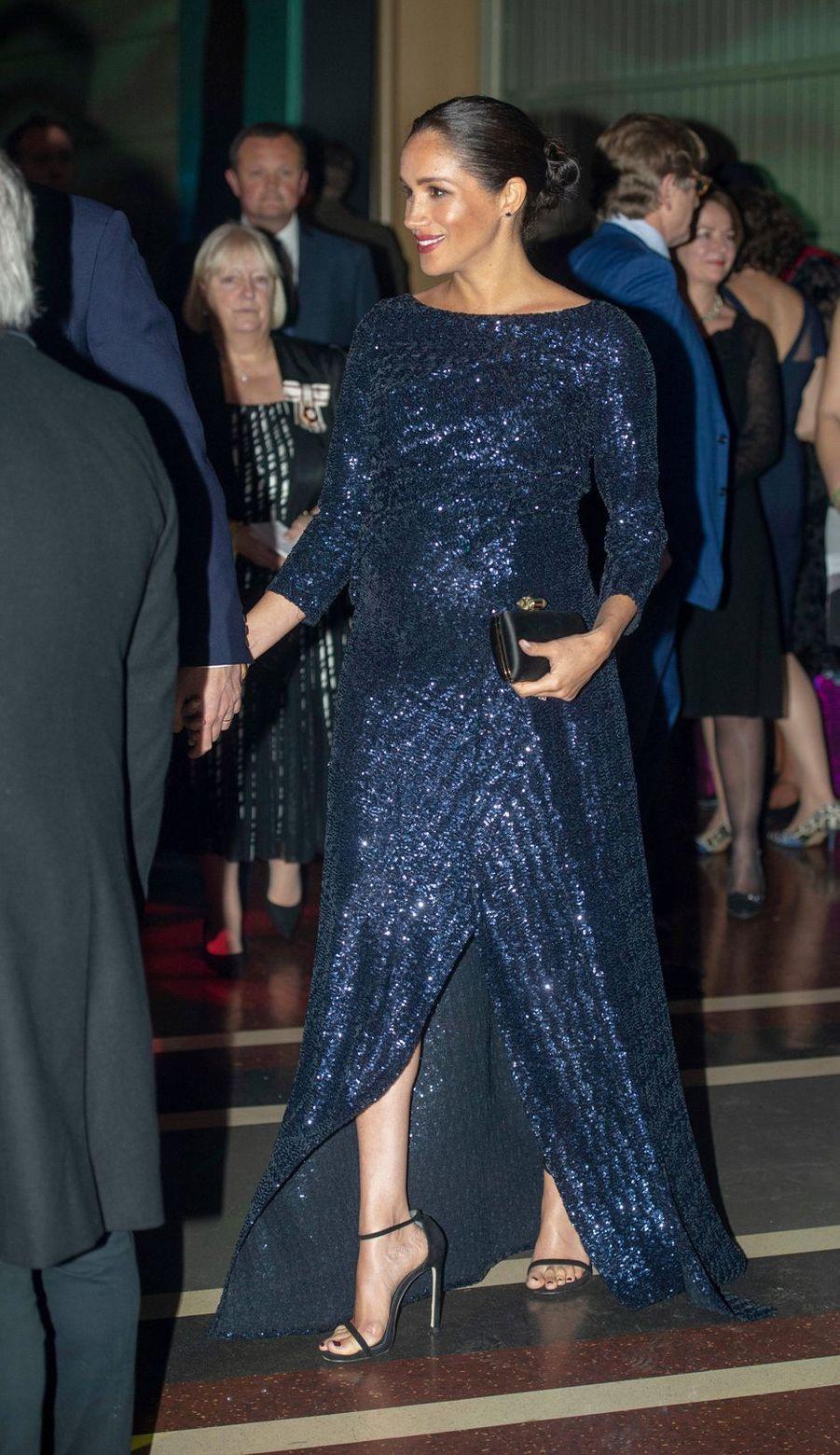 Meghan Markle, duchesse de Sussex, dans une robe Roland Mouret, le 16 janvier 2019 à Londres
