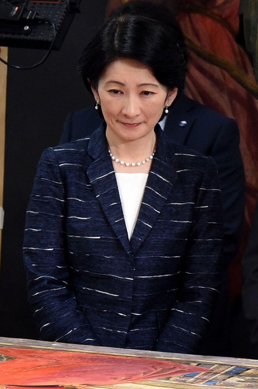 La princesse Kiko du Japon à Florence, le 12 mai 2016