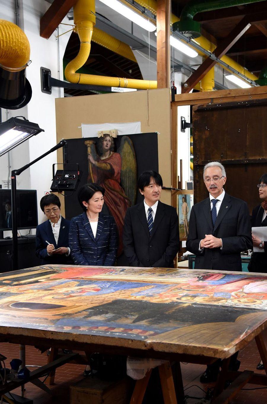 La princesse Kiko et le prince Akishino du Japon à Florence, le 12 mai 2016