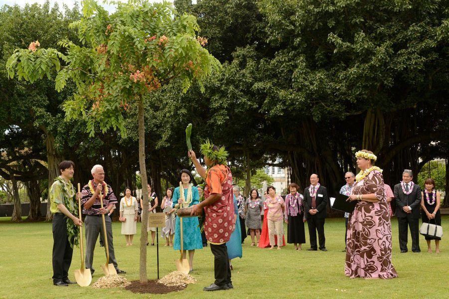 La princesse Kiko et le prince Fumihito d'Akishino du Japon à Honolulu, le 5 juin 2018