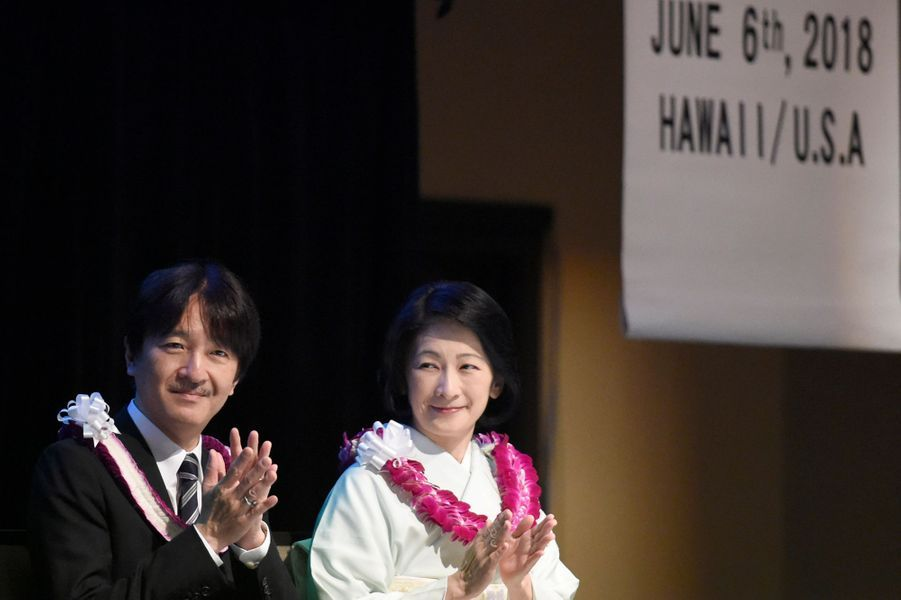 La princesse Kiko et le prince Fumihito d'Akishino du Japon à Honolulu, le 6 juin 2018