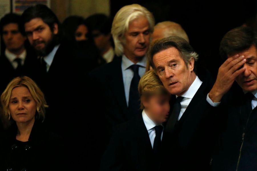 La famille de Cayetana à sa messe d'adieu à Madrid, le 15 décembre 2014