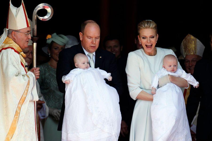 La princesse Gabriella et le prince Jacques de Monaco