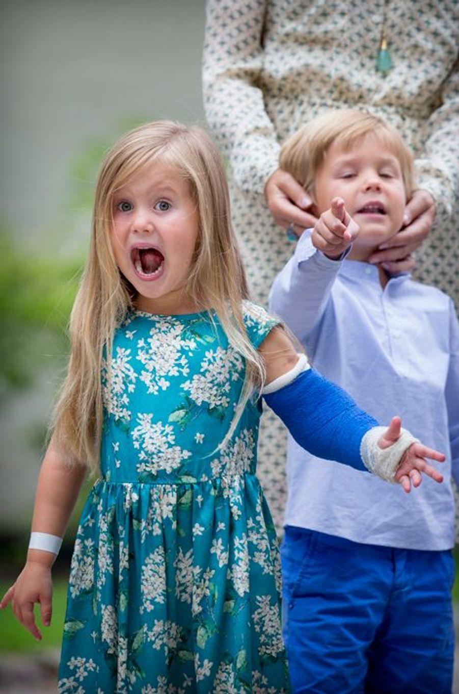 La princesse Joséphine et le prince Vincent de Danemark