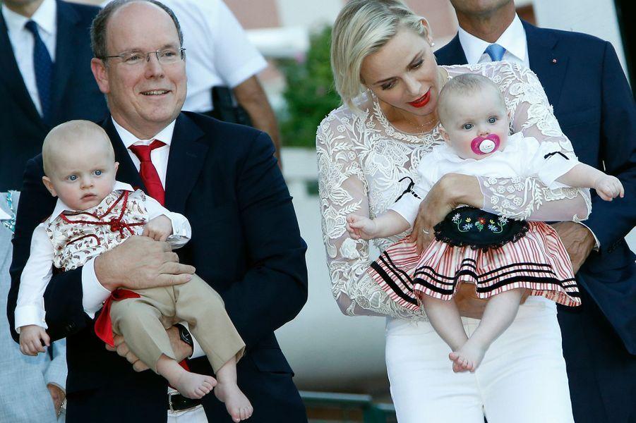 Le prince Jacques et la princesse Gabriella de Monaco