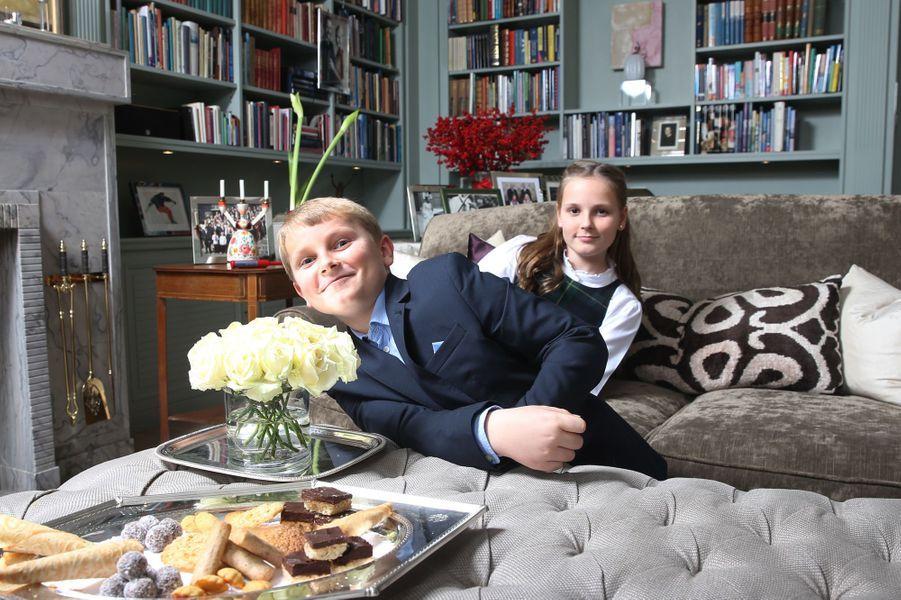 Le prince Sverre Magnus et la princesse Ingrid Alexandra de Norvège