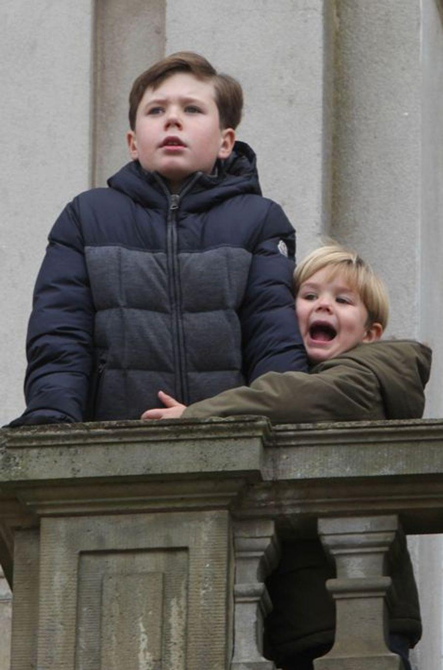 Les princes Christian et Vincent de Danemark