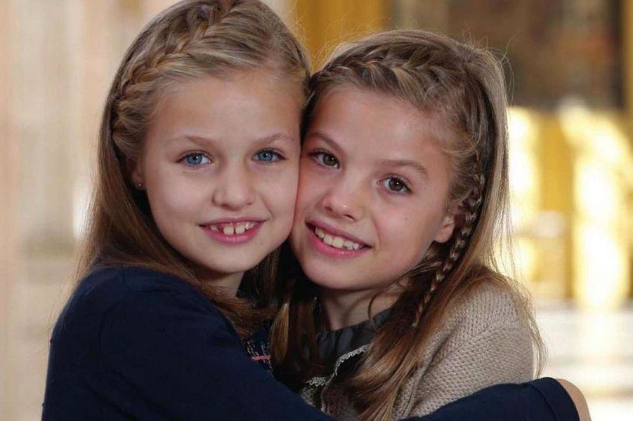 Les princesses Leonor et Sofia d'Espagne