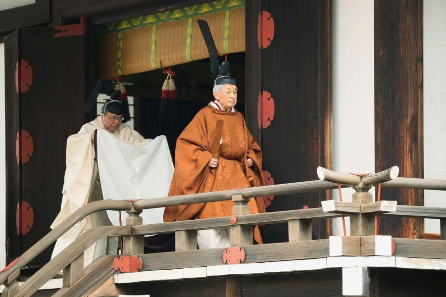 L'empereur Akihito du Japon à Tokyo, le 30 avril 2019