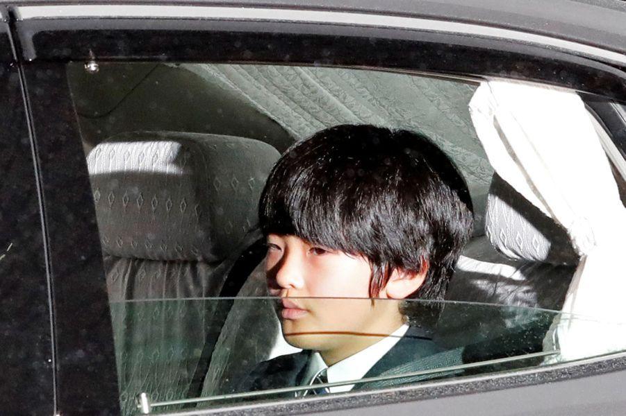 Le prince Hisahito du Japon, à Tokyo le 30 avril 2019