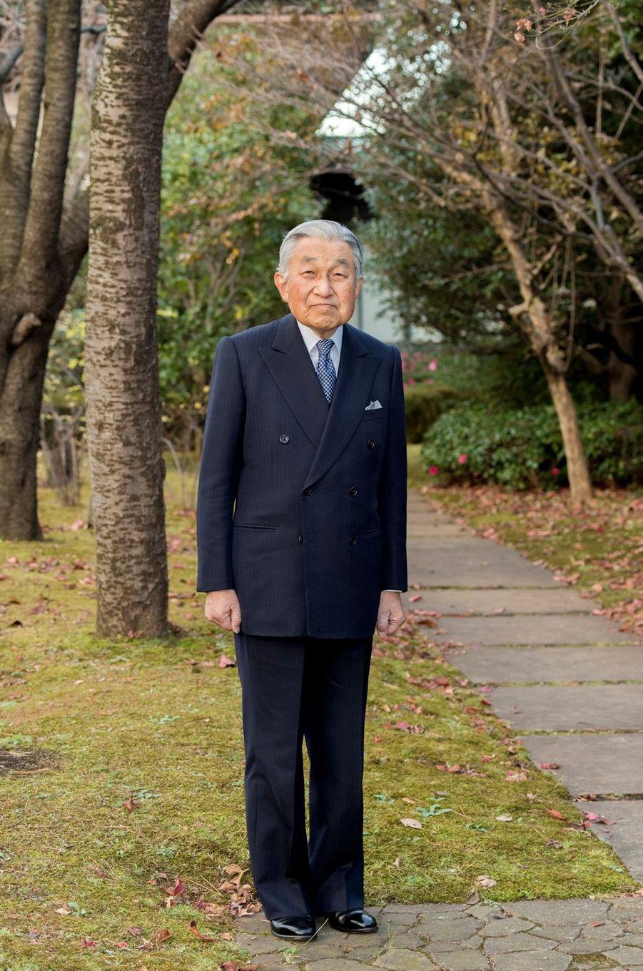 L'empereur Akihito du Japon à Tokyo, le 10 décembre 2018. Photo diffusée pour son 85e anniversaire le 23 décembre 2018