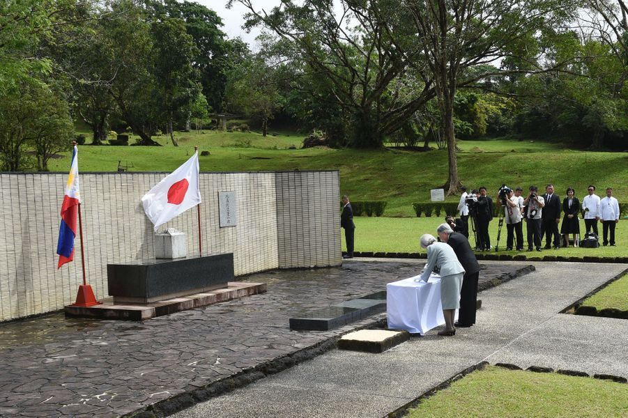 L'empereur Akihito et l'impératrice Michiko à Caliraya, le 28 janvier 2016