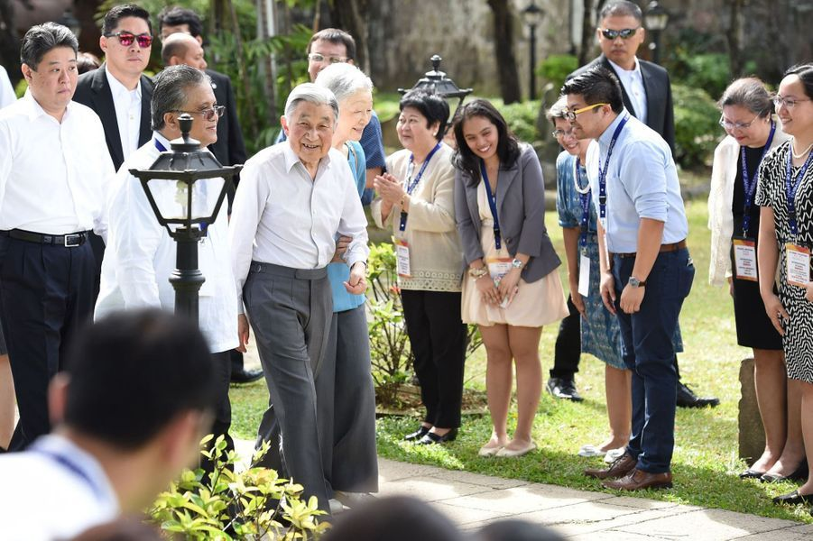 L'empereur Akihito et l'impératrice Michiko à Manille, le 28 janvier 2016