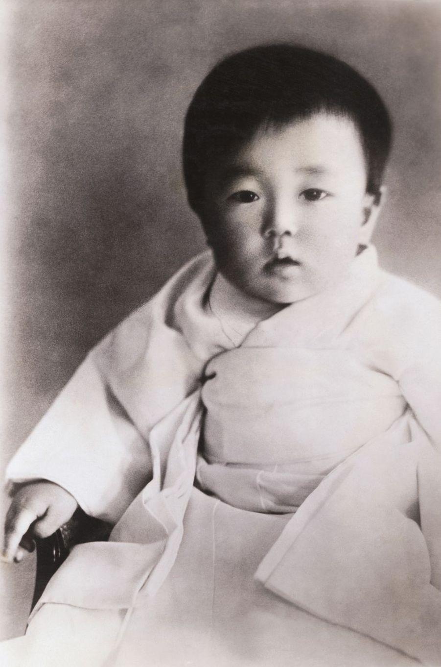 Le prince Hirohito du Japon. Photo non datée