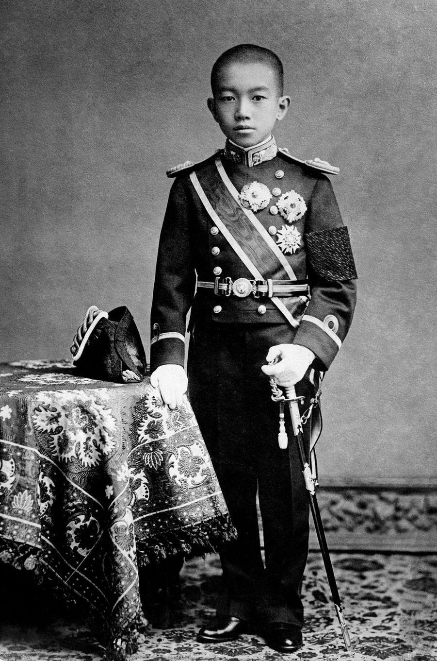 Le prince Hirohito du Japon, en 1910