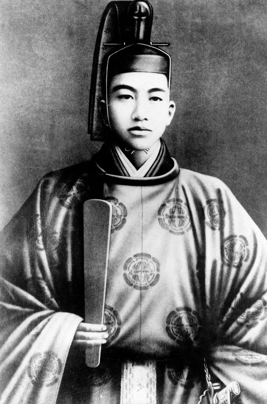 Le prince Hirohito du Japon, le 1er janvier 1923