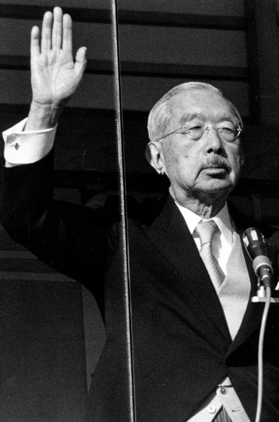 L'empereur Hirohito du Japo, le 2 janvier 1986
