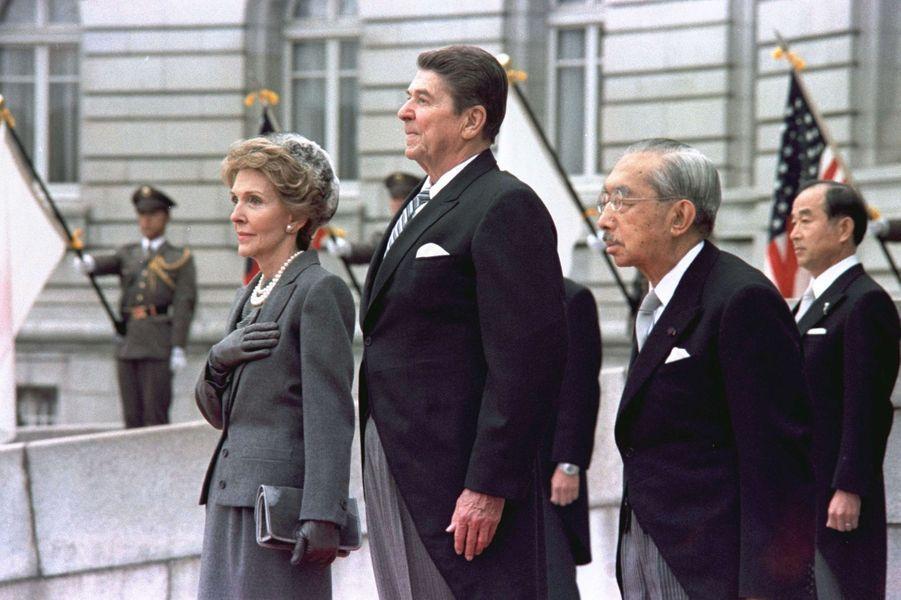 L'empereur Hirohito du Japon avec le président américain Ronald Reagan, le 9 novembre 1983
