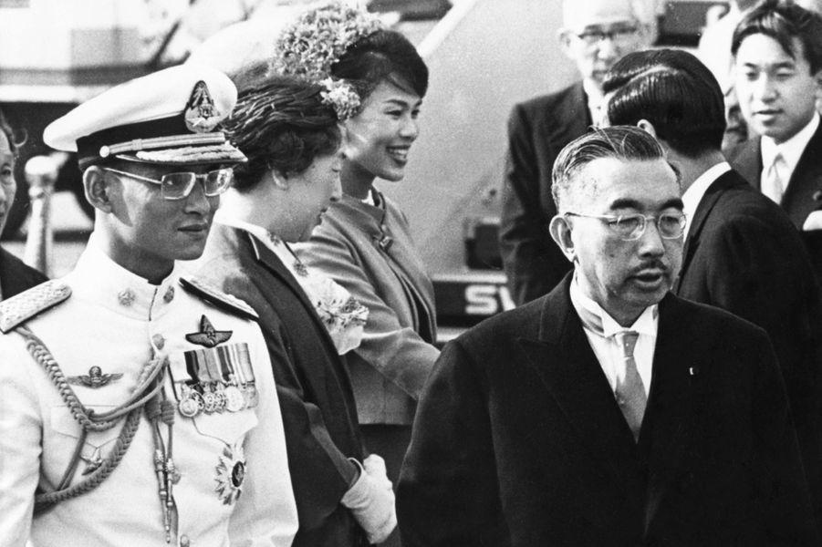 L'empereur Hirohito du Japon avec le roi de Thaïlande Bhumibol Adulyadej, le 27 mai 1963