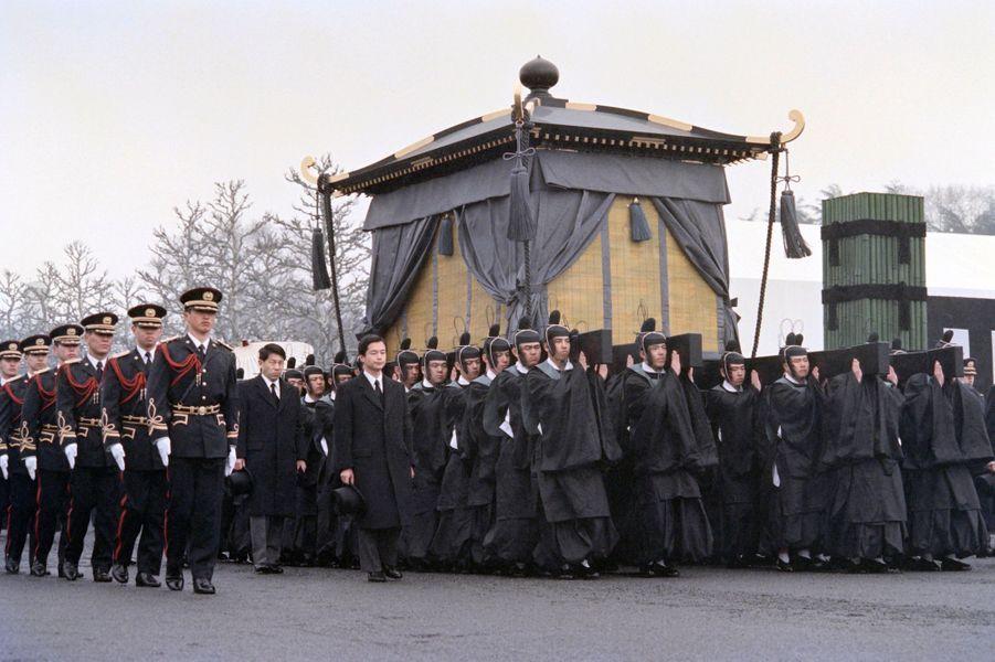 Funérailles de l'empereur Hirohito du Japon, le 7 janvier 1989