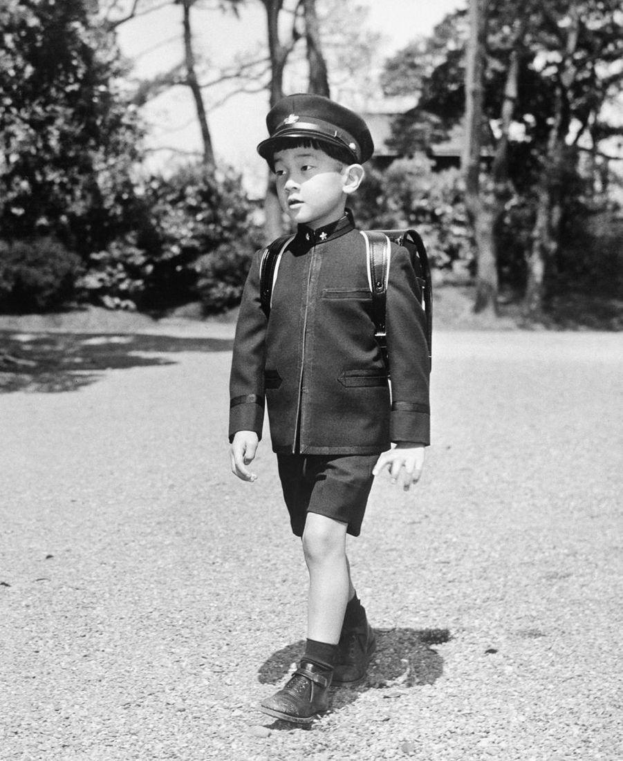 Le prince Naruhito du Japon, le 15 avril 1966