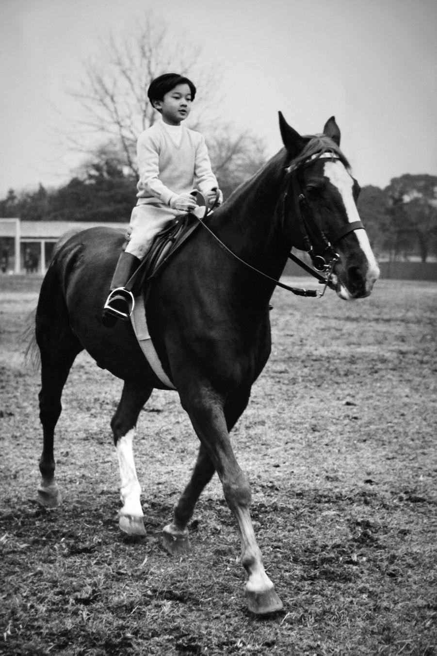 Le prince Naruhito du Japon, en février 1969