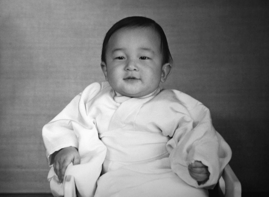 Le prince Naruhito du Japon, en 1960