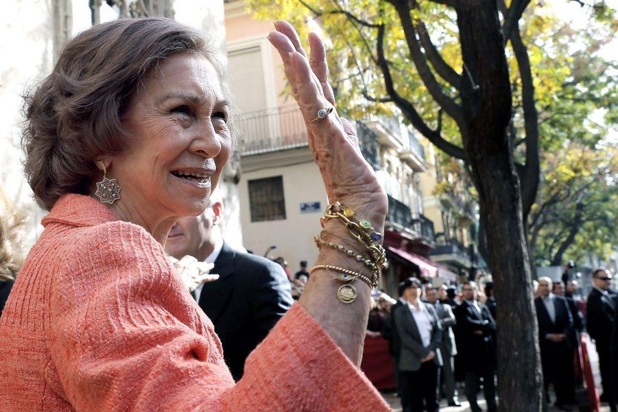 Sofia d'Espagne à Valence, le 25 novembre 2014