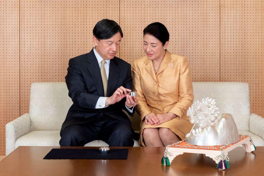 L'impératrice Masako du Japon avec l'empereur Naruhito à Tokyo, le 3 décembre 2019. Photo diffusée pour son 56e anniversaire le 9 décembre 2019