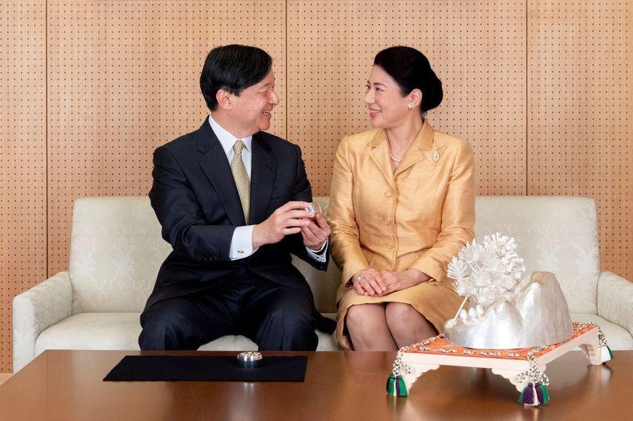 L'impératrice Masako du Japon avec l'empereur Naruhito à Tokyo, le 3 décembre 2019. Photo diffusée pour ses 56 ans le 9 décembre 2019
