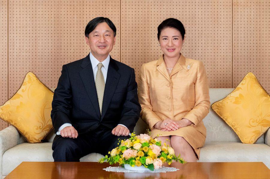 L'impératrice Masako du Japon avec son mari l'empereur Naruhito à Tokyo, le 3 décembre 2019. Photo diffusée pour son 56e anniversaire le 9 décembre 2019