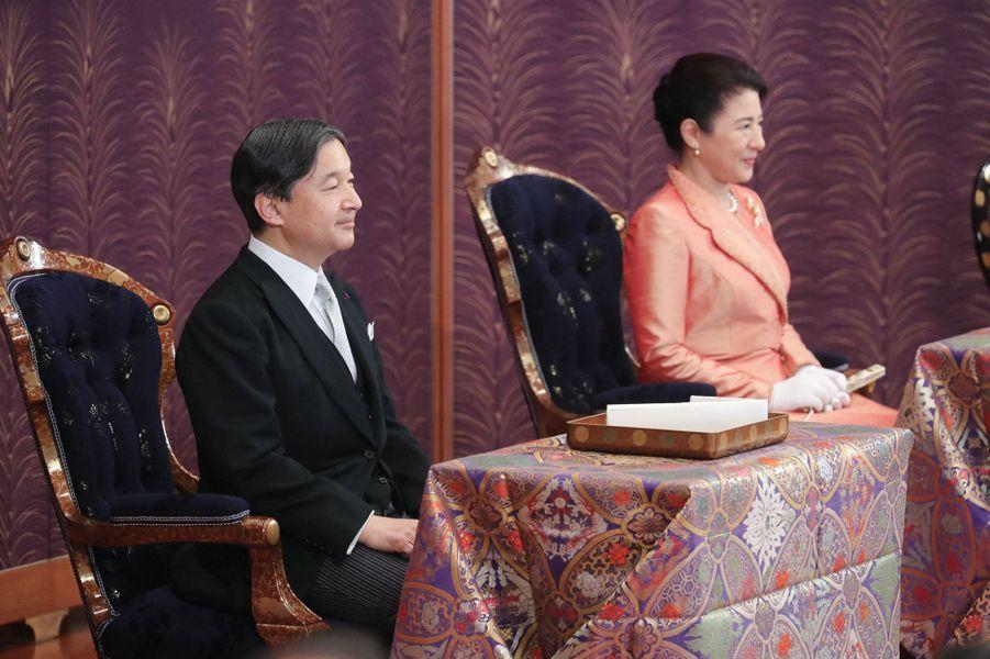 L'impératrice Masako et l'empereur Naruhito du Japon au Palais impérial à Tokyo, le 16 janvier 2020