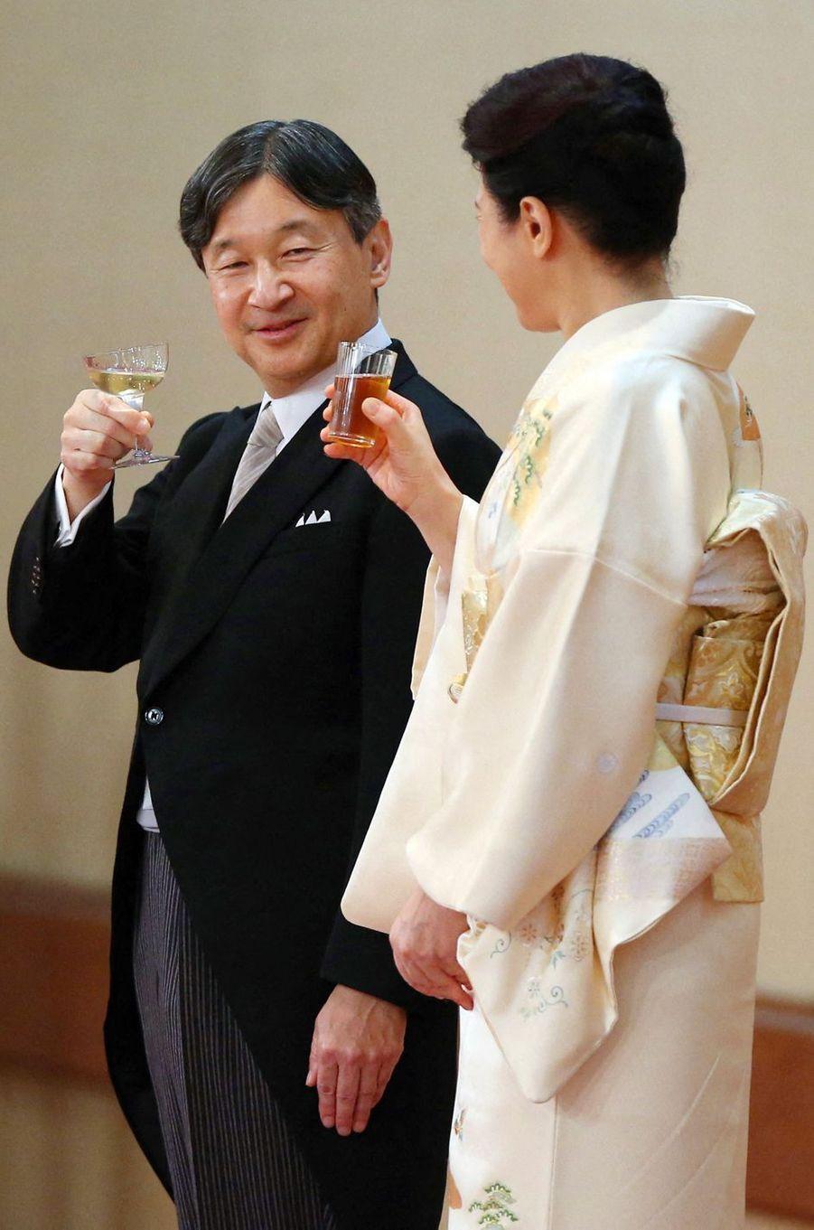 L'empereur Naruhito du Japon et l'impératrice Masako à Tokyo, le 31 octobre 2019
