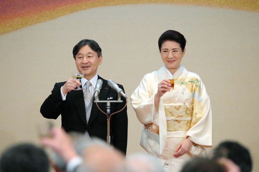L'impératrice Masako et l'empereur Naruhito du Japon à Tokyo, le 31 octobre 2019