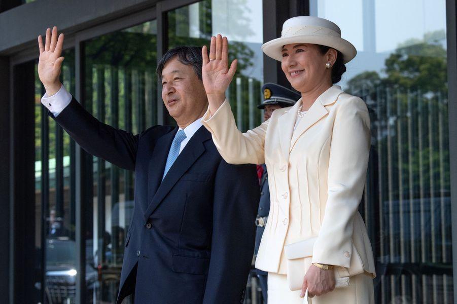L'impératrice Masako et l'empereur Naruhito du Japon à Tokyo, le 27 mai 2019