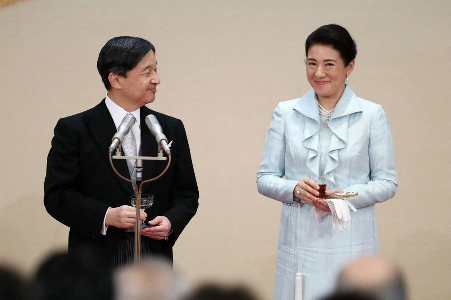 L'empereur Naruhito du Japon et l'impératrice Masako à Tokyo, le 29 octobre 2019
