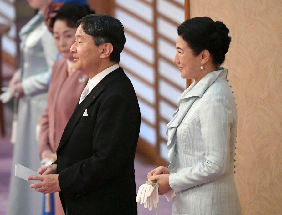 L'impératrice Masako et l'empereur Naruhito du Japon, le 29 octobre 2019 à Tokyo