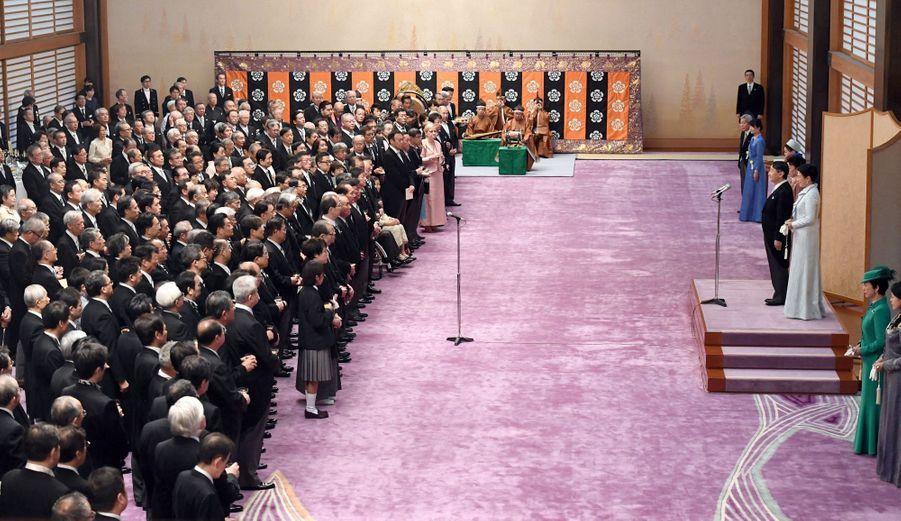 L'impératrice Masako et l'empereur Naruhito du Japon au Palais impérial à Tokyo, le 29 octobre 2019