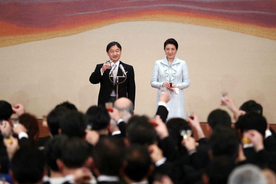 L'impératrice Masako et l'empereur Naruhito du Japon à Tokyo, le 29 octobre 2019