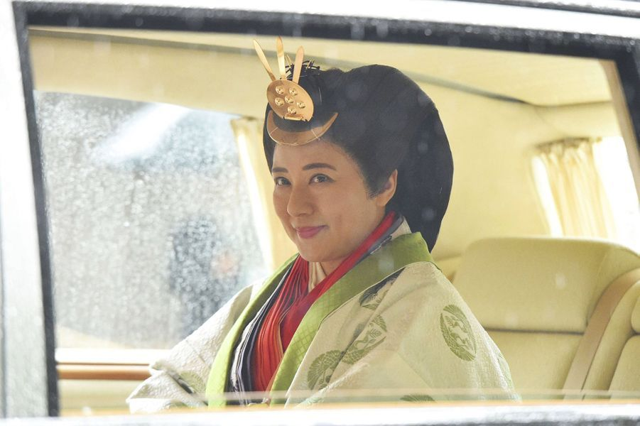 L'impératrice Masako du Japon en voiture au sanctuaire d'Ise, le 22 novembre 2019