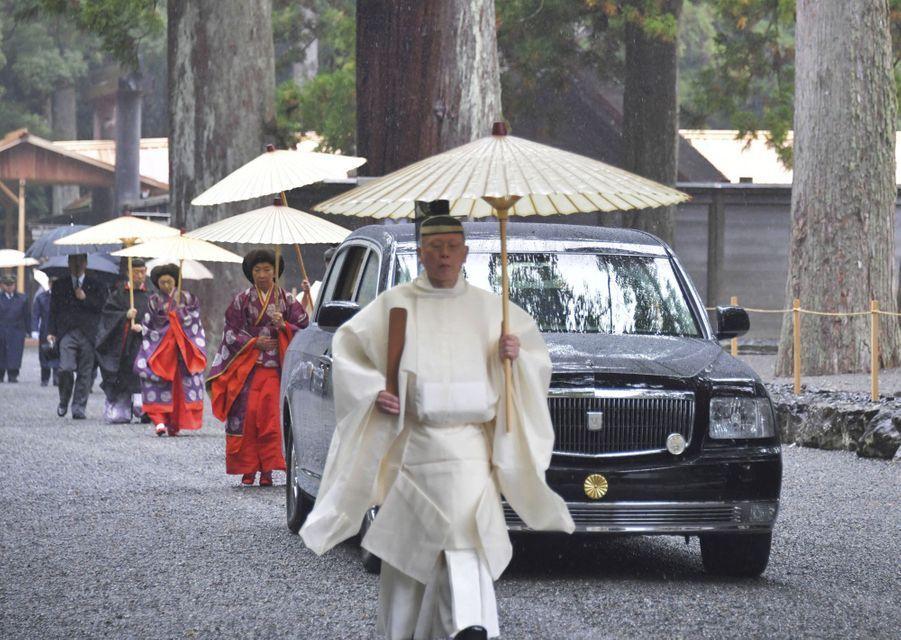 L'impératrice Masako du Japon au sanctuaire d'Ise, le 22 novembre 2019