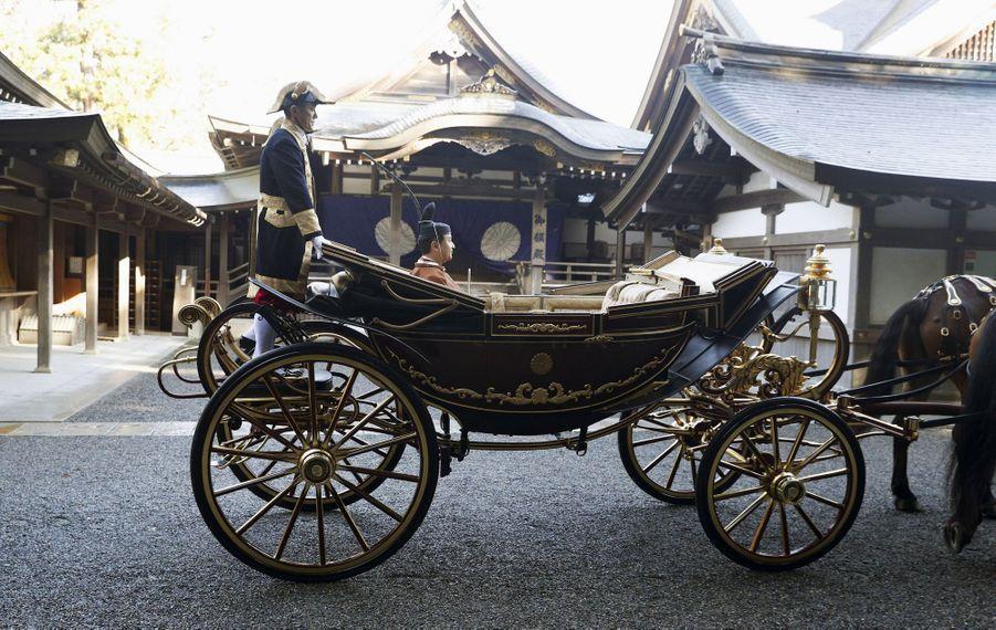 L'empereur Naruhito du Japon au sanctuaire d'Ise, le 23 novembre 2019
