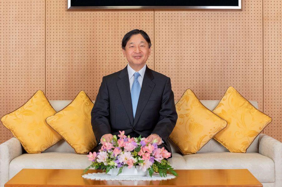 L'empereur Naruhito du Japon, à Tokyo le 12 février 2020. L'un des portraits diffusés le 23 février 2020 pour son 60e anniversaire