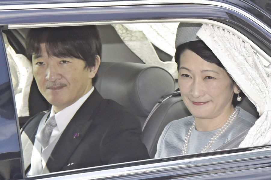 La princesse Kiko du Japon et le prince Fumihito d'Akishino à Tokyo, le 20 octobre 2018