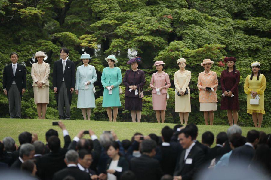 Les membres de la famille impériale du Japon à Tokyo, le 25 avril 2018