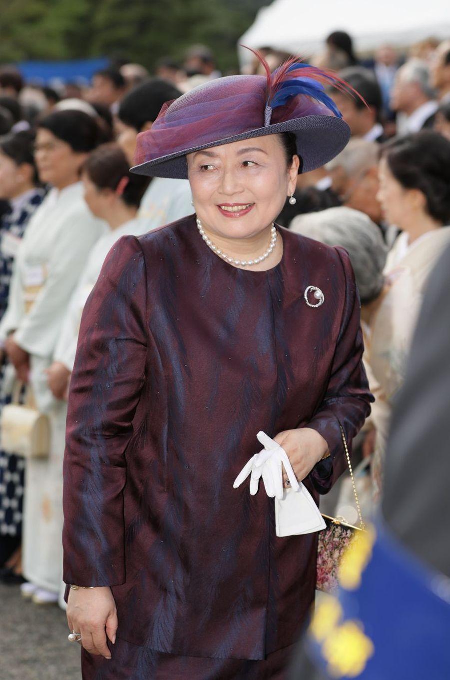 La princesse Nobuko de Mikasa à Tokyo, le 25 avril 2018
